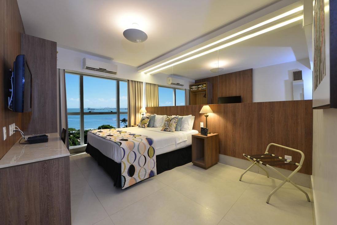 Acomodação do Hotel Beira Mar com vista para o mar